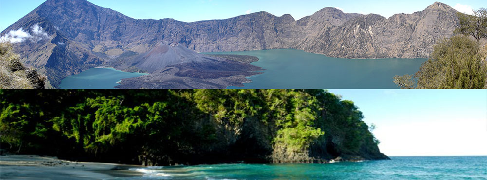 rinjani national park and moyo island